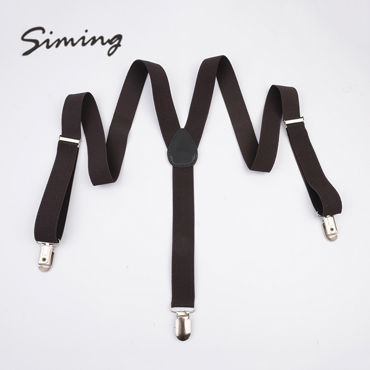 Good quality wholesale hot sale brown suspender hardware