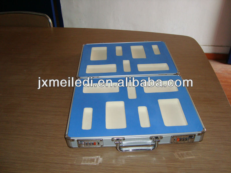 High Quality And Good Desigh Aluminium Tool Case Kit Blue EVA insert