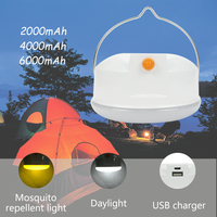 Round 5W USB Rechargeable Led Camping