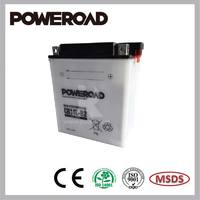 POWEROAD dry charged battery for motorcycle YB14L-B2