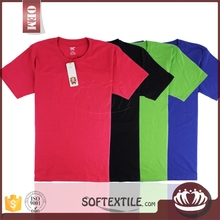 Double neck and fashion hem long line t shirt men, contrast sleeves plain custom t shirt