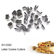 SY-C022 Stainless Steel Letter Cookie Cutters