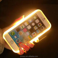 2016 Fashion Luxury Illuminated Cell Phone Case, Flash light up led selfie phone case for iphone 6 6s plus
