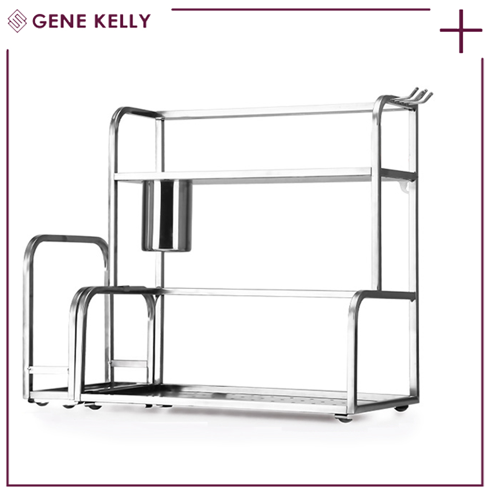 GEKE No Complaint factory offer directly kitchen stainless steel shelves,kitchen stainless steel dish drying rack,knife jar rack