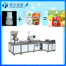 manual juice spout nozzle welding machine for doypack bags