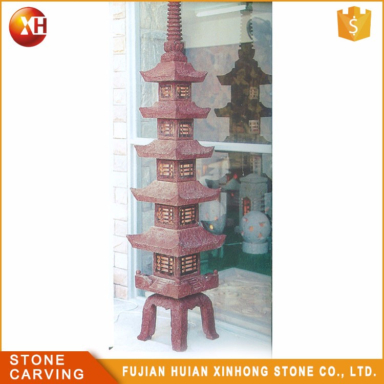 Japanese Garden Furniture Hand Made Stone Pagoda