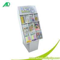 Magazine and Newspaper Floor Paper Display Stand