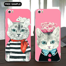 Newest design free sample cute cat pattern phone case for redmi note2 L/C payment