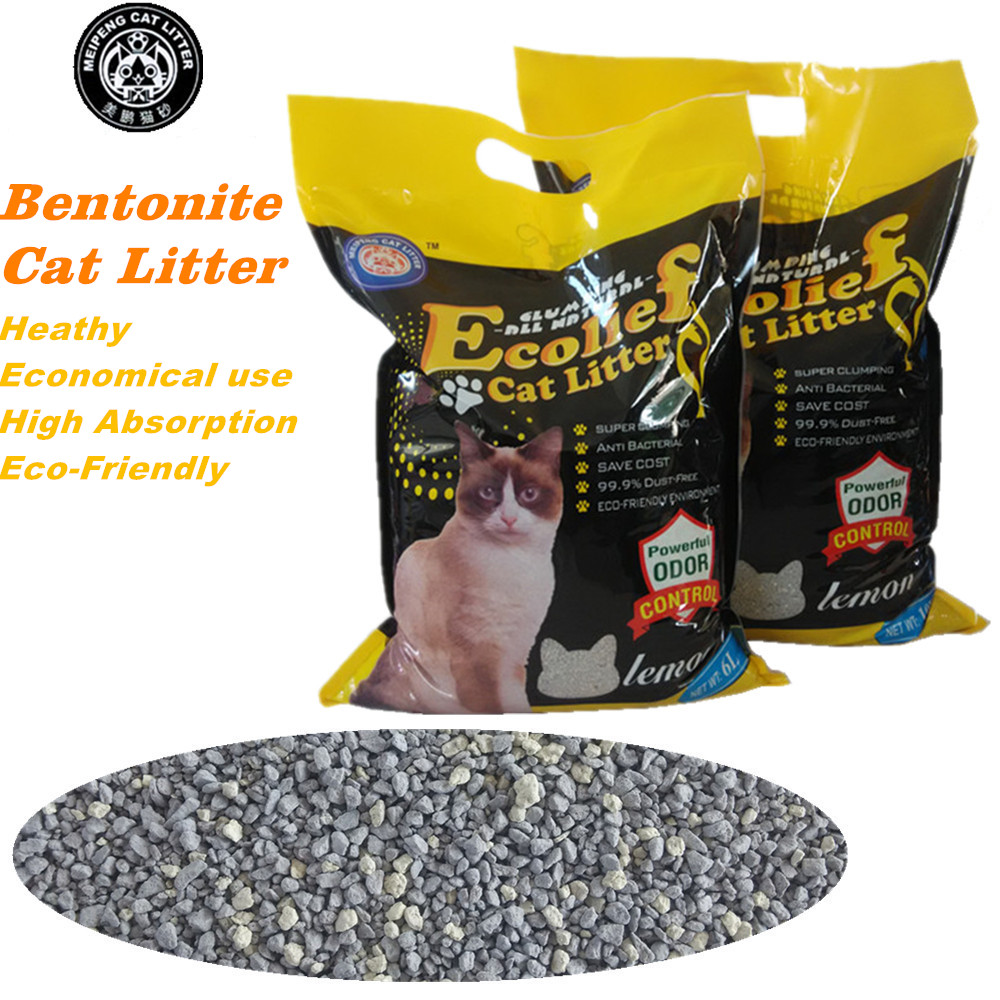 meipeng best clean pure bentonite cat sand no pine or silica gel cat litter