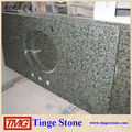 China green granite bathroom vanity top with drill holes