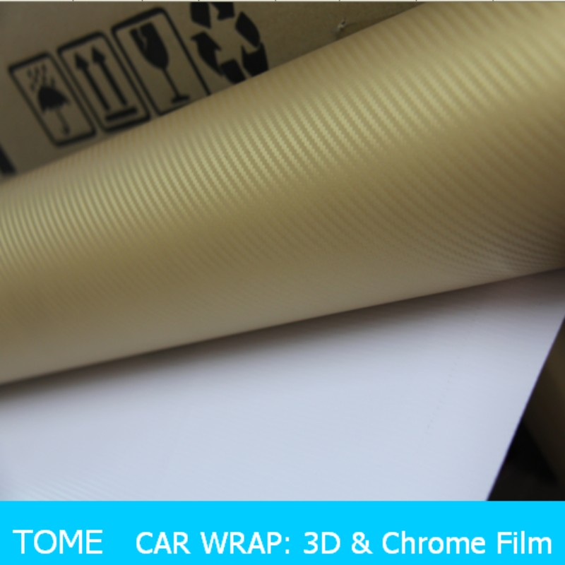 Hot sale 3D carbon fiber car wrap vinyl film for car body protect, removable glue 3D carbon fiber