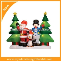 Hot sale colorful inflatable christmas tree for yard display