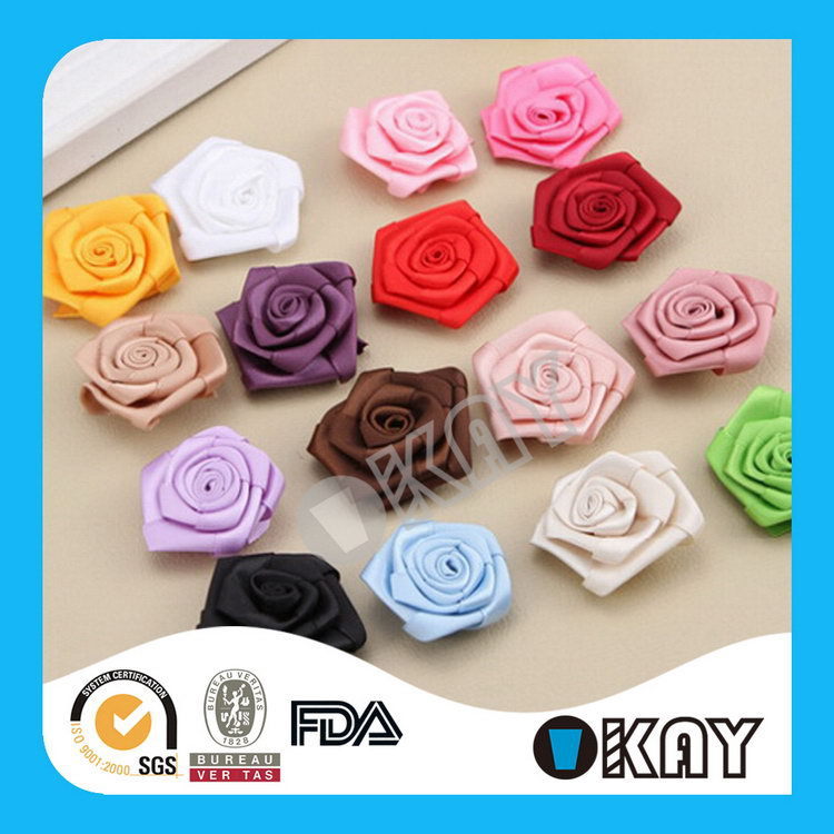 Good Quality Top Sell Ribbon Flower For Garment Accessories