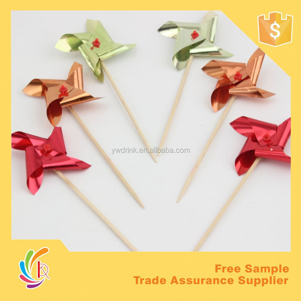 Gorgeous Windmill Party decoration wood stick