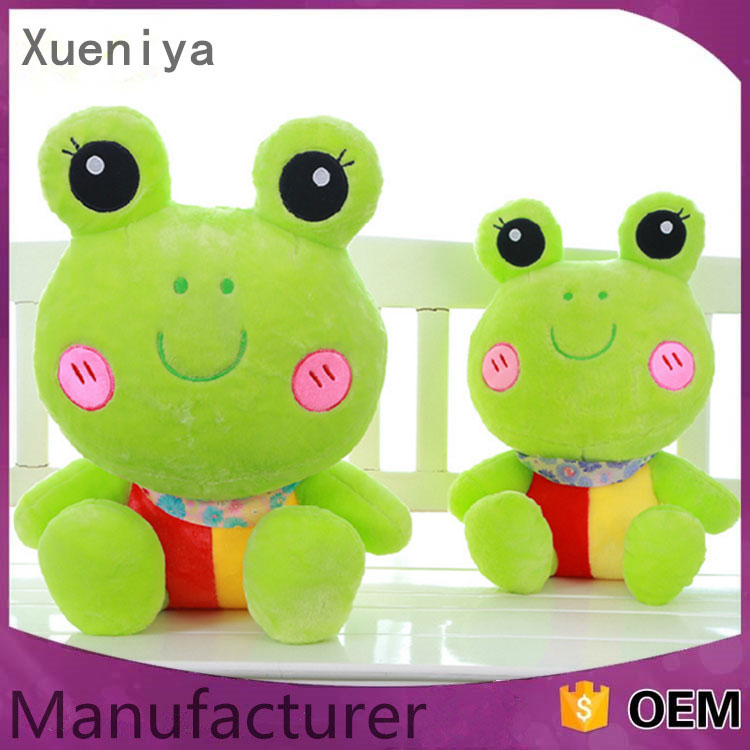 China Factory Newest Cheap Soft Toys Wholesale Kids Toys Plush Frog