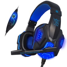 Hot Selling LED Over-ear Computer Gaming Headset Headphone With Mic For Steam Game