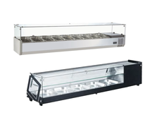 Commercial Hotel Stainless Steel Table Top Display Showcase Refrigerator Salad Bar