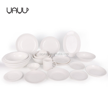 White cheap logo acceptable dinnerware sets , fine porcelain 72 pcs luxury dinner set for 6 people