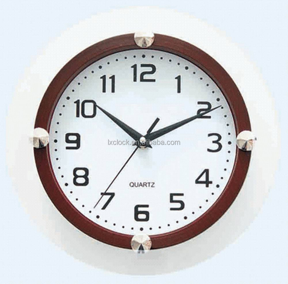 10 Inch Glass Frameless Wall Clock LX-3981B