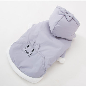 S52700A    Winter Dog Clothes Cartoon Cute Hooded Clothing