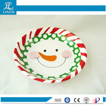 Kitchen Item plastic Christmas Round Bowl