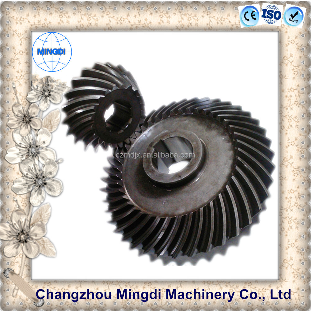 differential gears Steel Spiral Bevel Gear motorcycle wheels/ Transmission Parts for hand seeder & towing truck