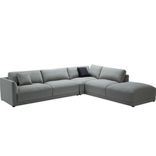 L shaped sofa fabric and leather sofa set living room <strong>furniture</strong>