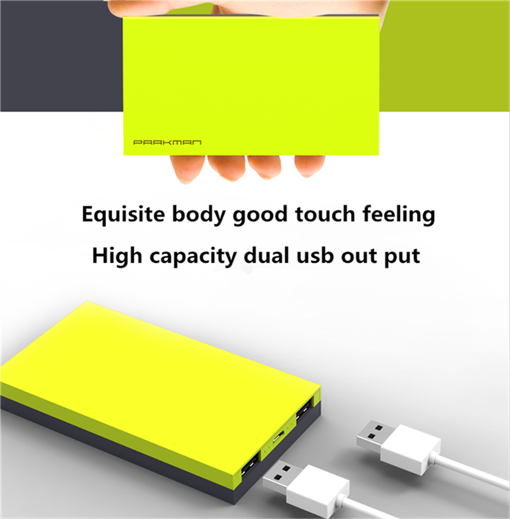Any logo Customized portable power bank 15000 mah /portable battery charger/ dual USB Socket mobile power bank