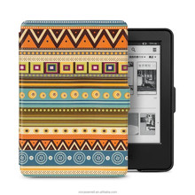 Colors slim leather case for Kindle touch 2014, for kindle 7th smart leather case