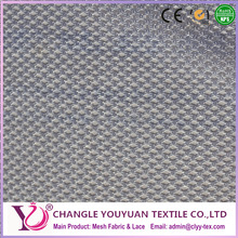 White and thick double layer diamond mesh fabric polyester material