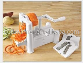 Kitchen tool T0C plastic spiral spiralizer vegetable cutter for sale