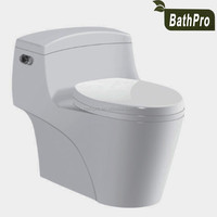 S-trap drainage pattern sanitary ware siphonic one piece ceramic small bathroom toilet