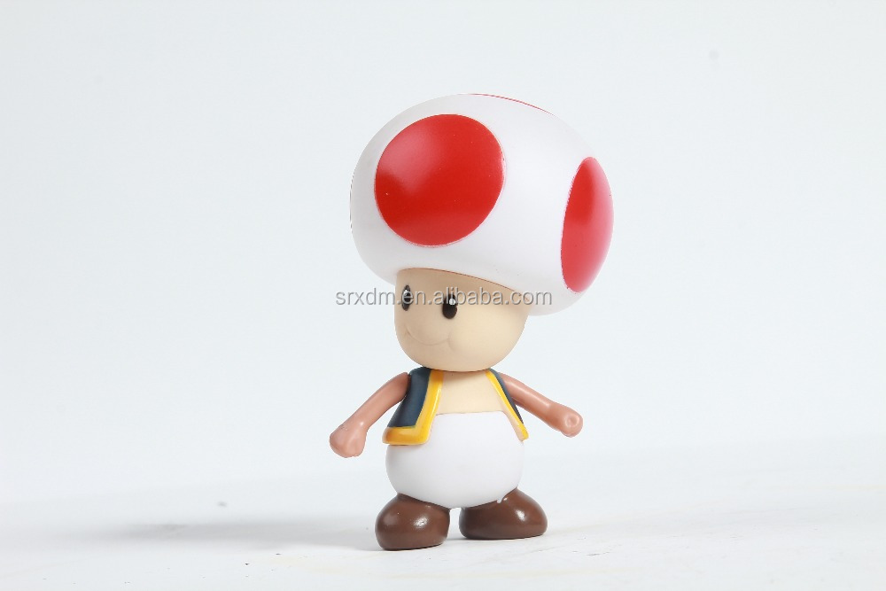 mushroom shape action figure,anime character plastic toys,customized by China manufactorer