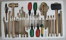 firefighting breaking down Non sparking tools 21pieces with handle case