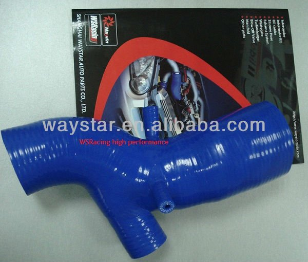 blue Silicone turbo intake hose for EVO 4-6 air intake