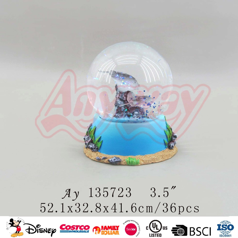 45MM cheap souvenir gifts sea animal resin snow globe