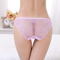 Low Waist Young Girl Underwear Models Transparent Sexy Lace Lady Underwear Seamless Panty