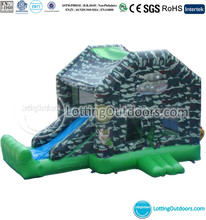 Commercial Boot Camp Inflatable Bouncer Slide Combo, Inflatabl Bouncing Slide, Inflatable Jumping Castle Trampoline