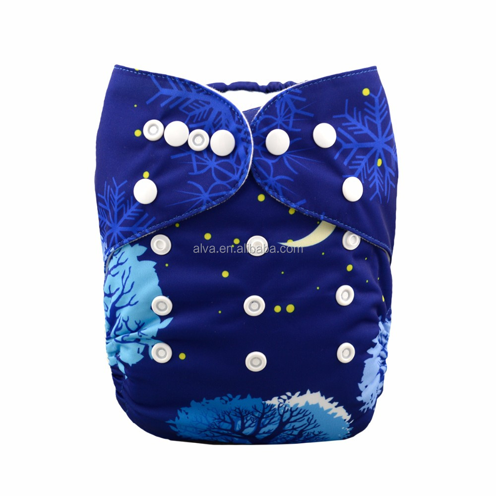 Alvababy Night Scenery Best Baby Cloth Nappies Ecological Baby Cloth Diapers