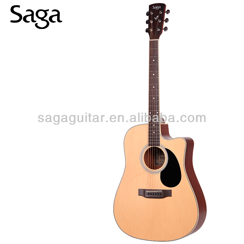 saga acoustic guitar with beautiful guitar rosettes,SF700C