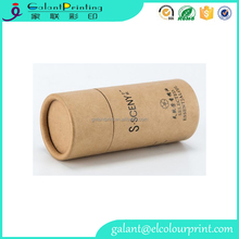bulk printing biodegradable round cardboard kraft paper tube with your custom logo