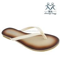 new simple design flip flop ladies slipper flat shoes for beach