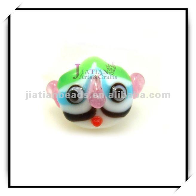 lampwork glass funny face beads