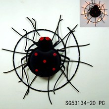 Factory halloween metal spider craft designs wall decoration