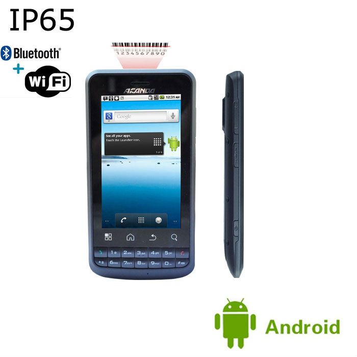 Rugged rugged android rfid phone with 3G barcode scanner