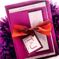many colors wedding invitation cards of 2015 new design products
