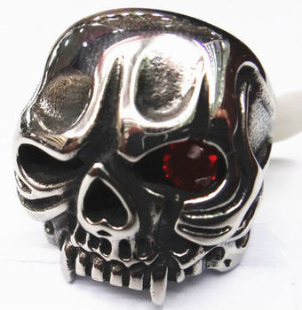 SRM140 Evil eyes skull rings for men