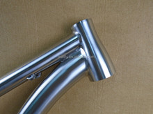 customized external cable titanium mtb frame 26 inch with rigid fork WTL-406M
