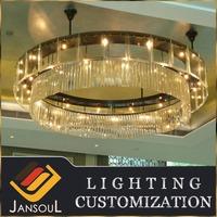 modern indoor flush mount crystal ceiling light fixture for dining room
