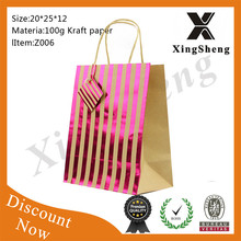 2015 new products famous brand vintage paper bags